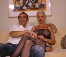 SEXTAPE GERMANY   Hot Busty Blonde German Wife Gets Her Pussy Pounded In Amateur Sex Tape