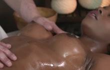 Interracial Fucking On Massage Table