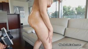 Juicy Oiled Black Teen Amateur On Cock