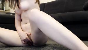 LITTLE Titties   18yo Chick Teasing Solo On Webcam