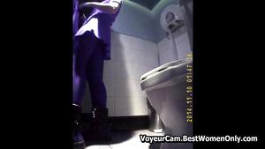 Caught Couple Copulation On Public Restroom Spycam Voyeur
