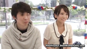 Asian Japanese 18 Year Olds Couple Lovemaking Show Glass Walls 30