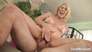 Horny Blonde Mature Mom Erica Lauren Rides Old Dick For Cum