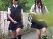 Asian Students Peeing In The Street