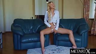 The Perfect Blonde Girl Masturbating