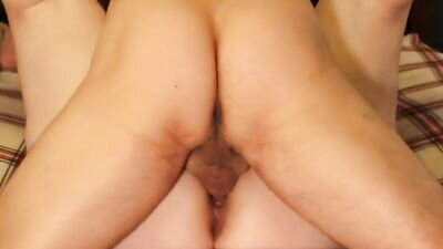 Fat Wife Gets Fucked And Creampied From Her Husband Who Slams Her Box