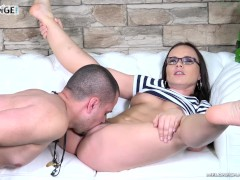 Diligent Newcomer Cum On Perfect Ass After Hard Times With Pornstar