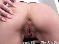 VIP Brunette Nika Charming Drilled In Her Petite Russian Ass