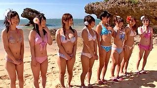 Supercute Japanese Honeys Alternately Fucked On The Beach
