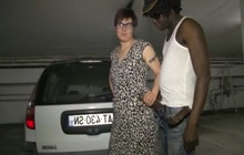 Interracial Double Penetration With French Mature
