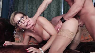 Classy Blonde MILF Has Her Pussy Pumped By Her Boss From Every Possible Position