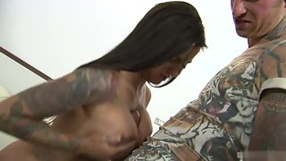 Amazing Tattooed Horny Couple Are Having Fantastic Sex