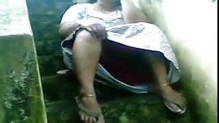 Chubby Indian Housewife Topless
