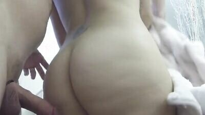 Standing Doggy Style Between An Amateur Couple