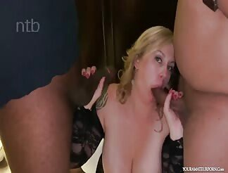 Two Slutty Babes Fuck Two Studs On A Bed