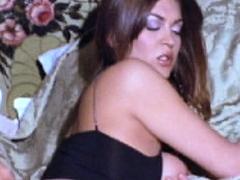 Hot Brunette Amateur Milf Rides Hubbys Cock