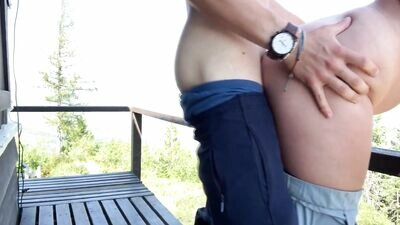 Amateur Babe With A Big Ass Bent Over And Doggy Styled Outdoors