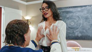 Slutty Teacher Fucks With Students