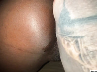 First Time Anal Probing For Ebony Slut