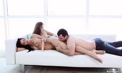 Man With Hard Dong Gets A Double Head By Marley Brinx And Kristina Bell