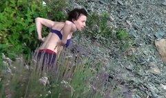 Sexy Girl Shaving Pussy Beach Shower Spycam