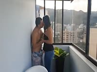 Chick Gets Fucked In Front Of All Her Neighbors On The Balcony