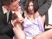 Hot Asian Babe Gets Office Creampie