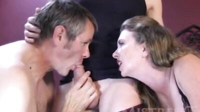 Bisexual Cuckold Is Sharing The Thick Rod With His Randy Wife In A Threesome
