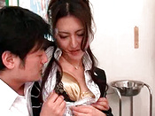 Aroused Asian Babe Getting Humped