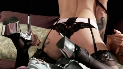 Exchange Of Pussy And Ass Licks Between Two Aroused Lezzies In Sexy Lingerie