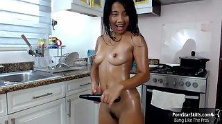 Naughty Young Filipina Masturbates In The Kitchen