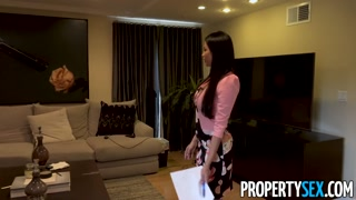 PropertySex   Virgin Programmer Bangs Huge Boobed French Authentic Property Agent
